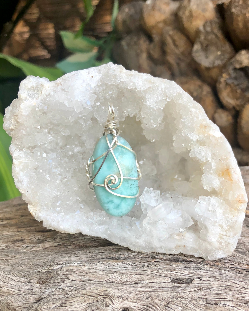 Larimar pendant necklace