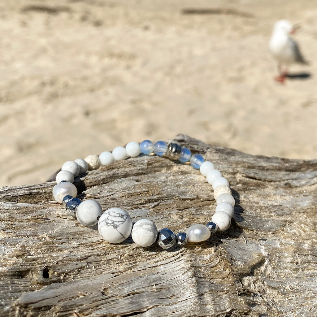 White Lions Essential Oil Bracelet
