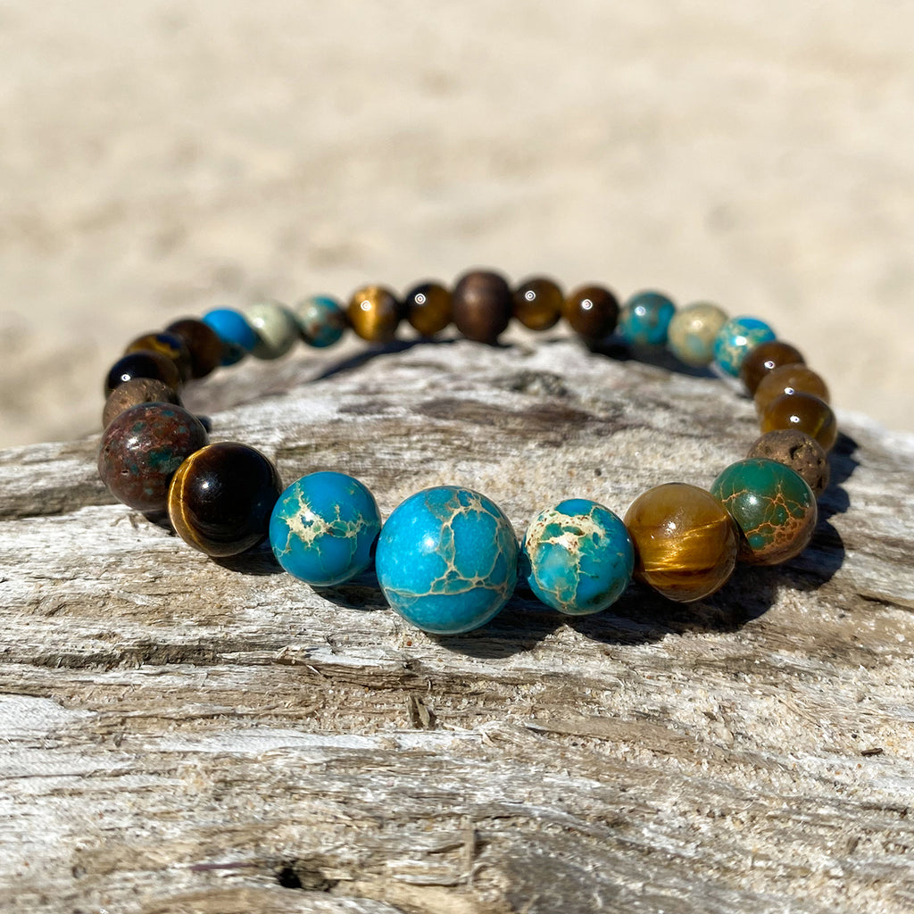 Ocean Tiger  Essesntial Oil Bracelet