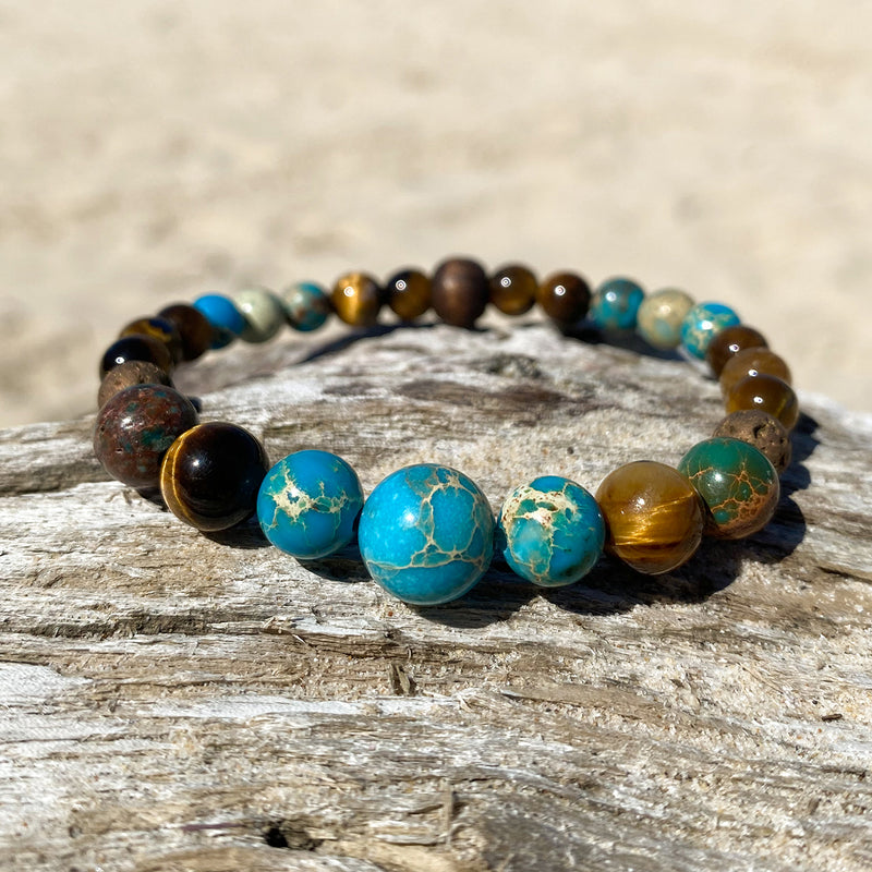 Ocean Tiger Bracelet Stack of 3