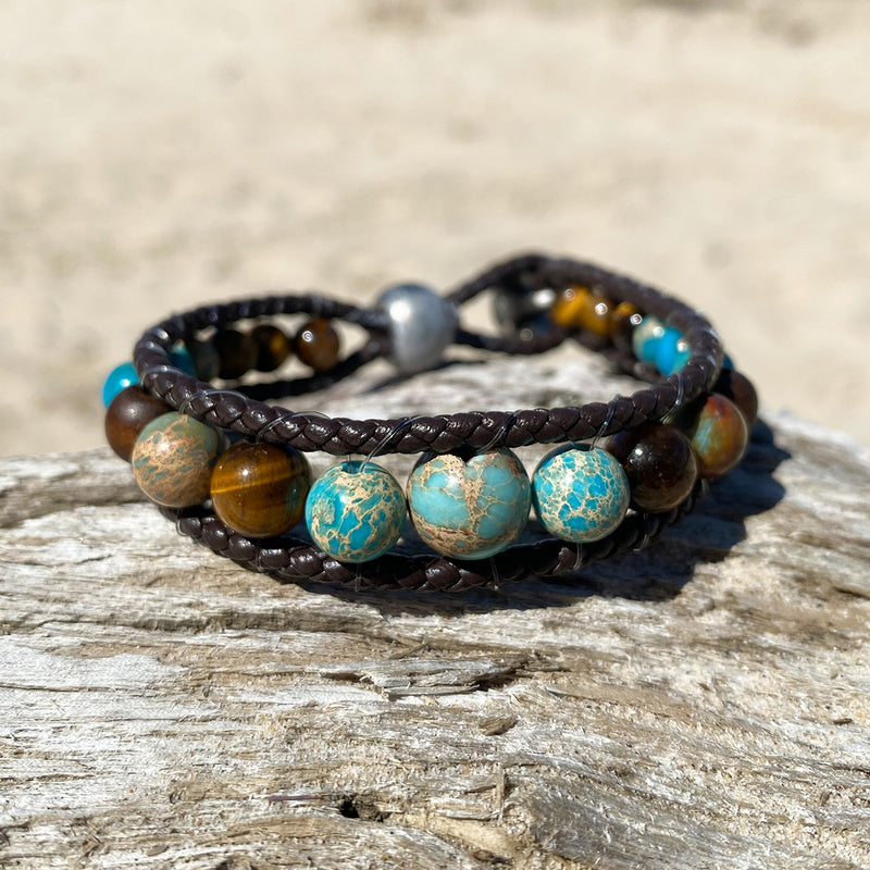 Ocean Tiger Leather Wrap