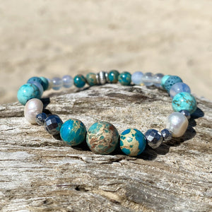 Ocean Blue Essesntial Oil Bracelet
