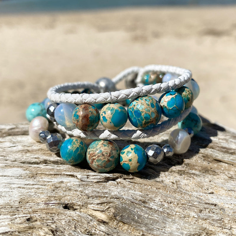 Ocean Blue Stack of 2