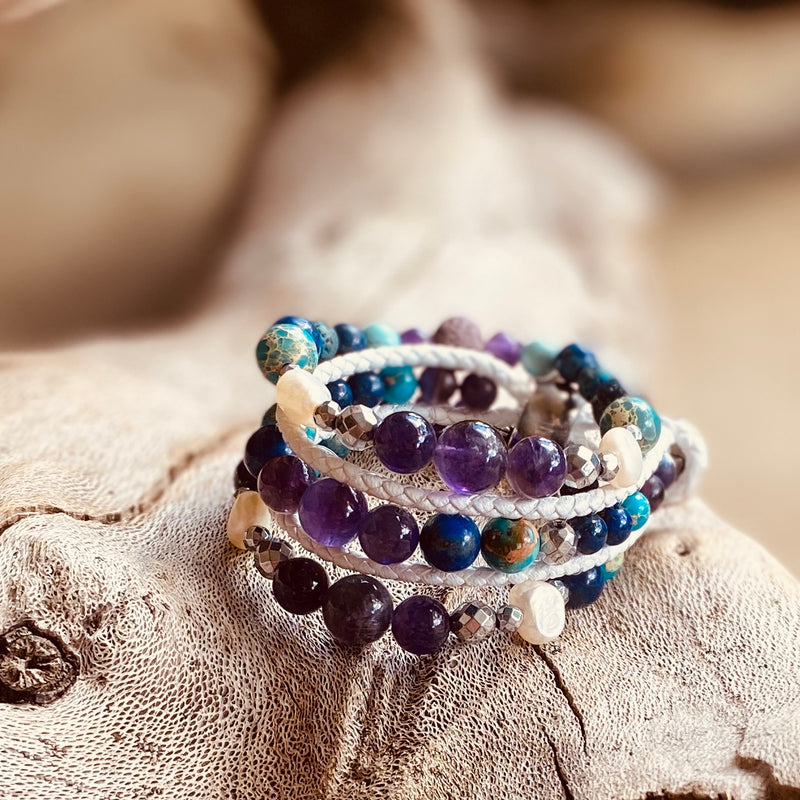 Goddess Isis Essesntial Oil Bracelet Stack of 3
