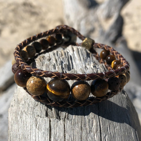 Lion's Gate Leather Wrap Essential Oil Bracelet