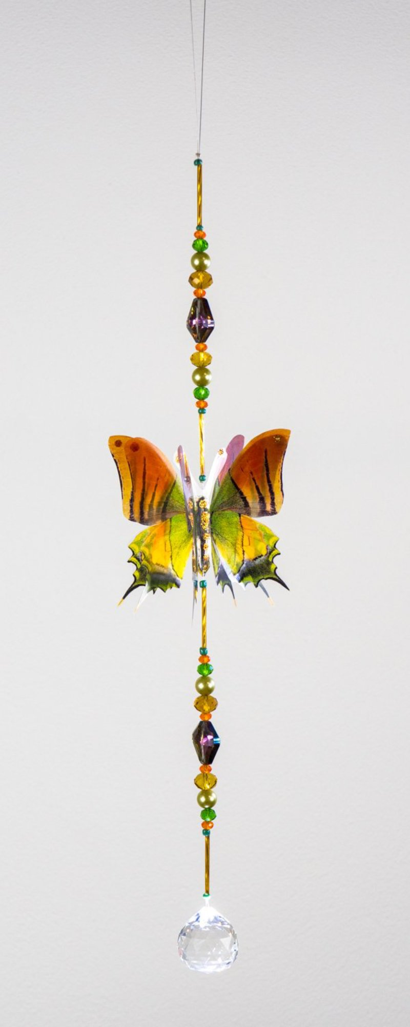 Nepalese butterfly hand made crystal suncatcher by Kylee Joy