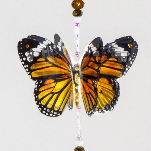 Monarch hand made  butterfly crystal suncatcher by Kylee Joy