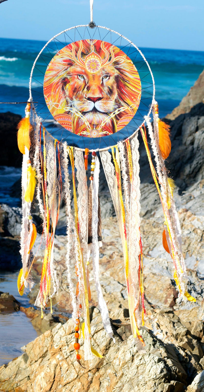 Heart Of A Lion SpiritArt Mandala Dreamcatcher