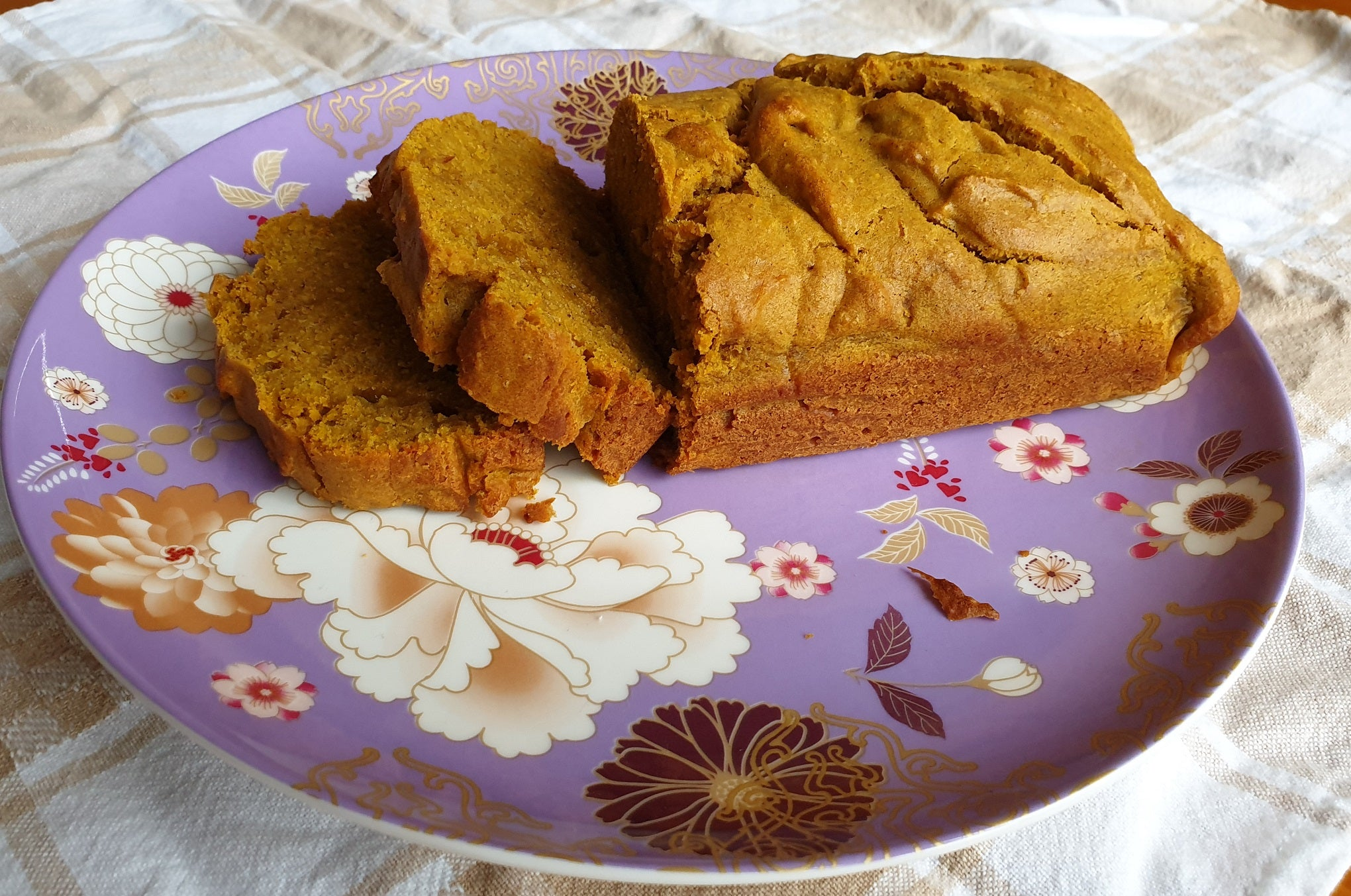 spiced pumpkin loaf mashed pumpkin