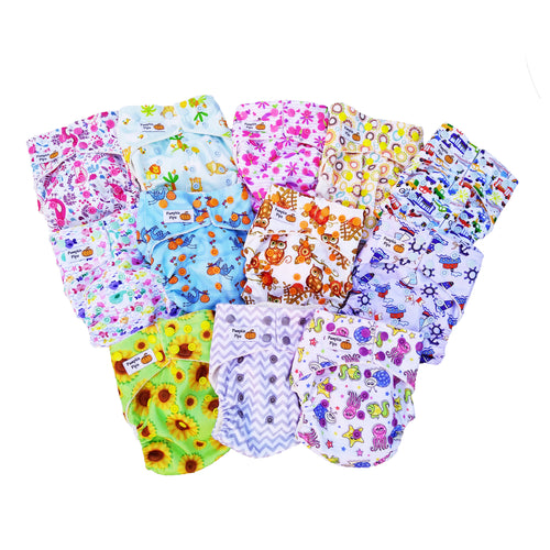 value pack 12 cloth nappies