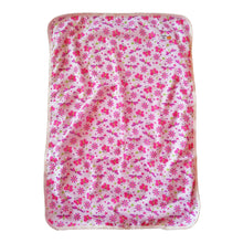 pink butterfly print baby girl change mat