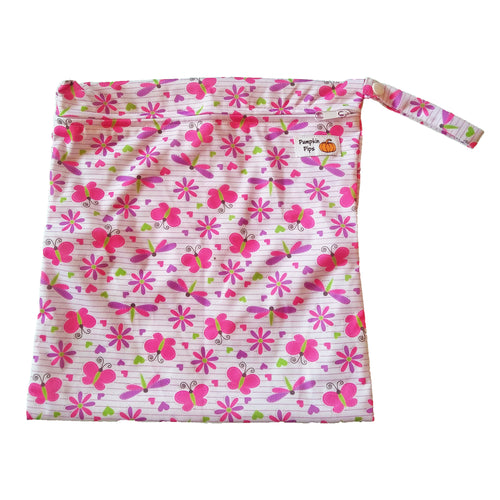 butterflies wet bag for cloth nappies