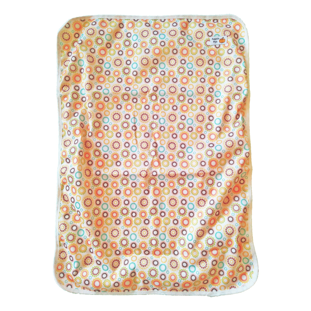 orange cogs baby change mat open