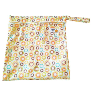 orange wet bag for cloth nappies