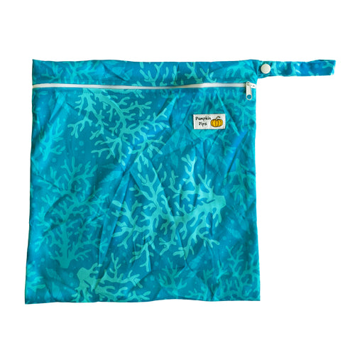 coral blues wet bag for nappies