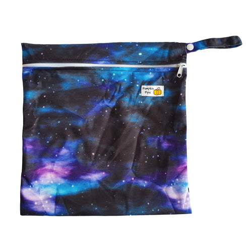 galaxy print wet bag for nappies