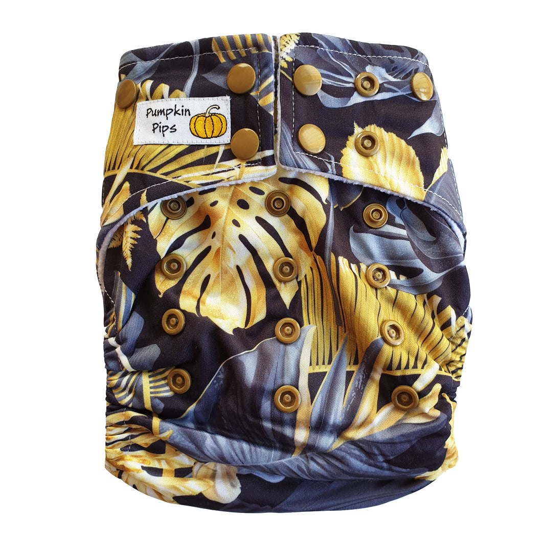 golden tropics black and gold cloth nappy