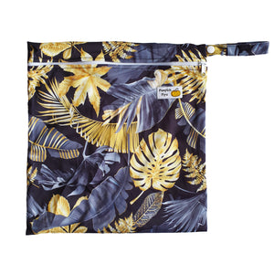 black and gold tropical wet bag