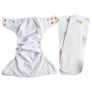 modern cloth nappy inside plus 2 inserts
