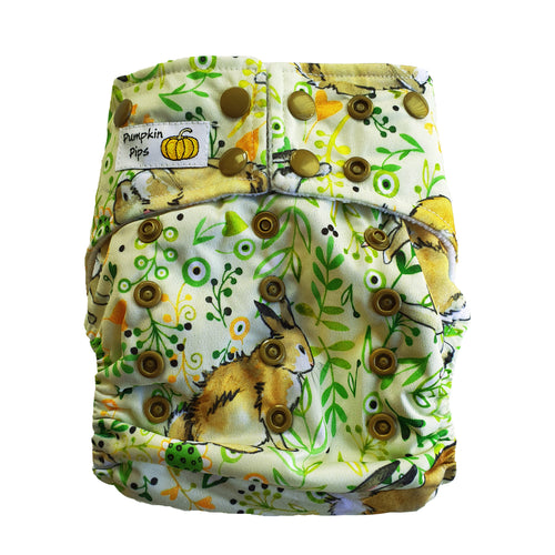 theodore bunny rabbit bamboo cloth nappy