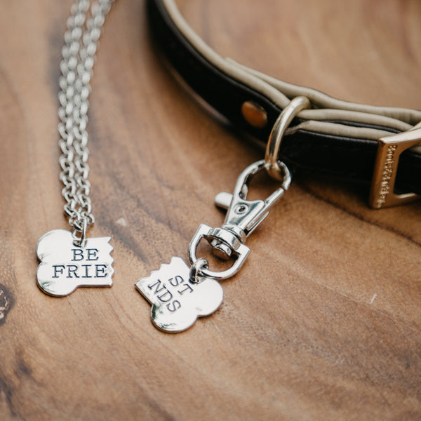 2pc Best Friend Necklace For You And Your Dog!