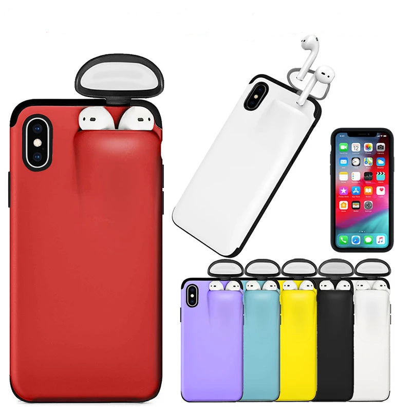 Casesio ™ - 2 In 1 - IPhone & Airpod Case