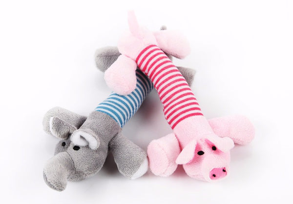 Plush Dog Chew Toys - DOGS LOVE THESE