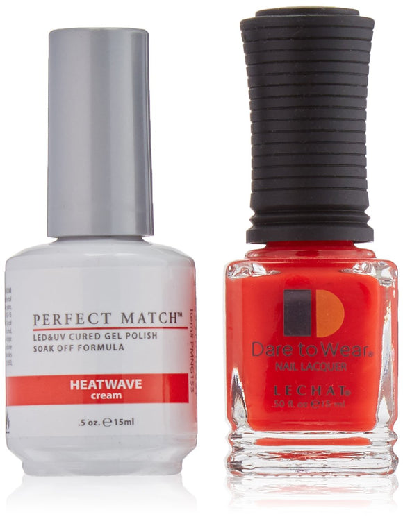 LeChat Perfect Match Nail Polish - 0.5 Oz (Heatwave - PMS153)