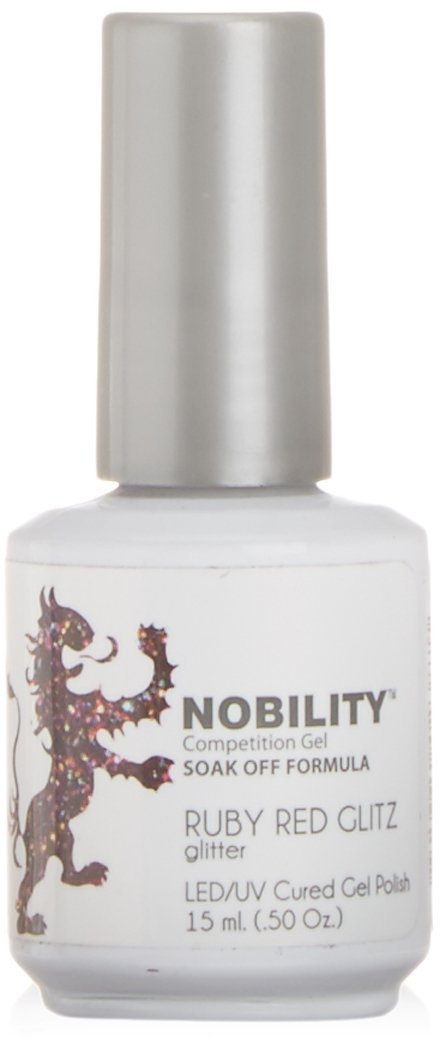 LeChat Nobility Gel Polish - 15 mL (Ruby Red Glitz - NBGP69)