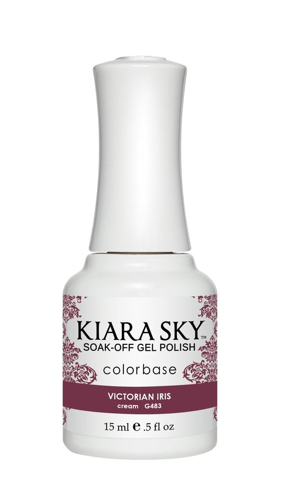 Kiara Sky Gel Soak-Off Gel Polish - 15 mL (Victorian Iris - KSG483)