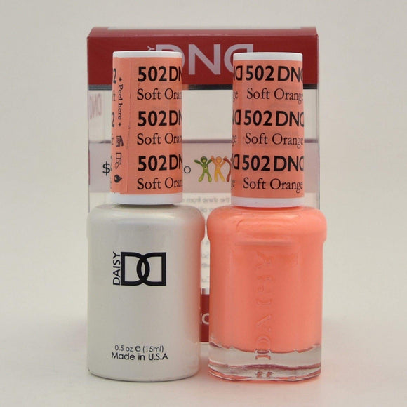 DND Gel & Matching Polish - Duo - (Soft Orange - DD502)