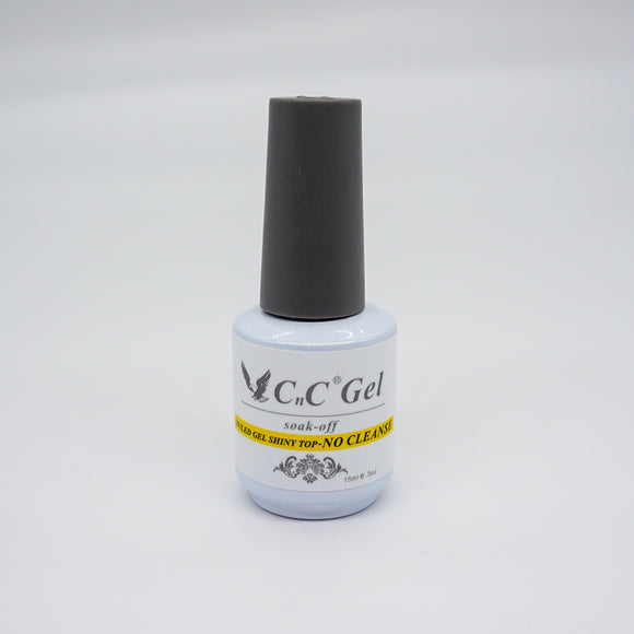 CnC Gel UV/LED Gel Shine Top - 15 ml (No Cleanse Top - CNCTNC)