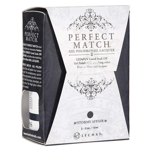 LeChat Perfect Match Nail Polish - 0.5 Oz (Stormy Affair - PMS186)