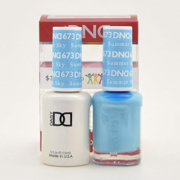 DND Gel & Matching Polish - Duo - (Summer Sky - DD673)