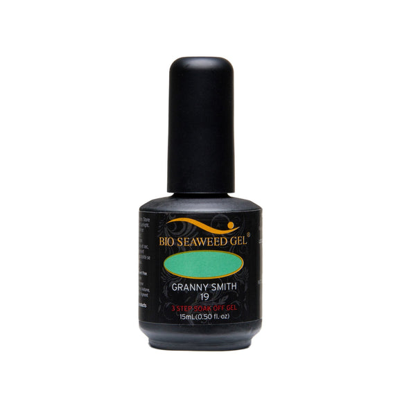 Bio Seaweed Gel 3Step Colour Gel Polish - 15 mL (Granny Smith - BSG19)