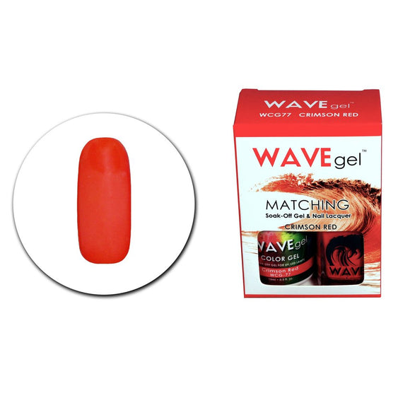 Wave Gel Matching Duo (Crimson Red - WCG77)