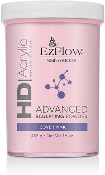 HD Acrylic Advanced Sculpting Powder - 16 Oz (Cover Pink - EZ42058)