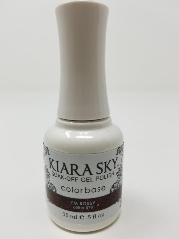 Kiara Sky Gel Soak-Off Gel Polish - 15 mL (I'm Bossy - KSG578)