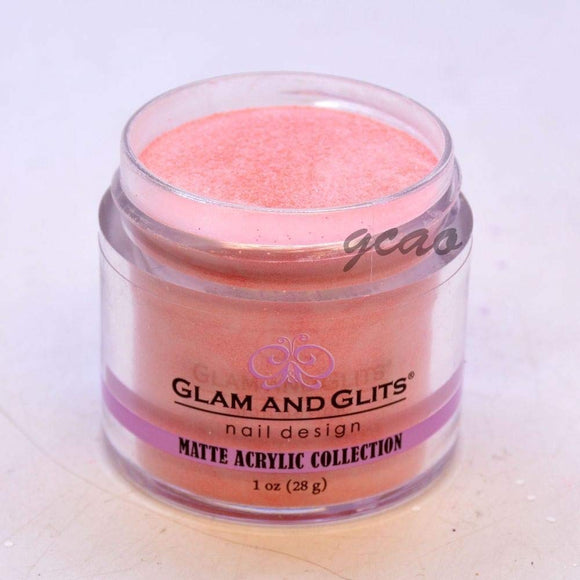 Glam And Glits Matte Acrylic Powder - 1 Oz (Peach Cobbler - MAT643)