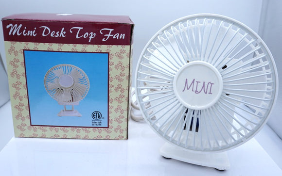 Mini Desktop Fan White