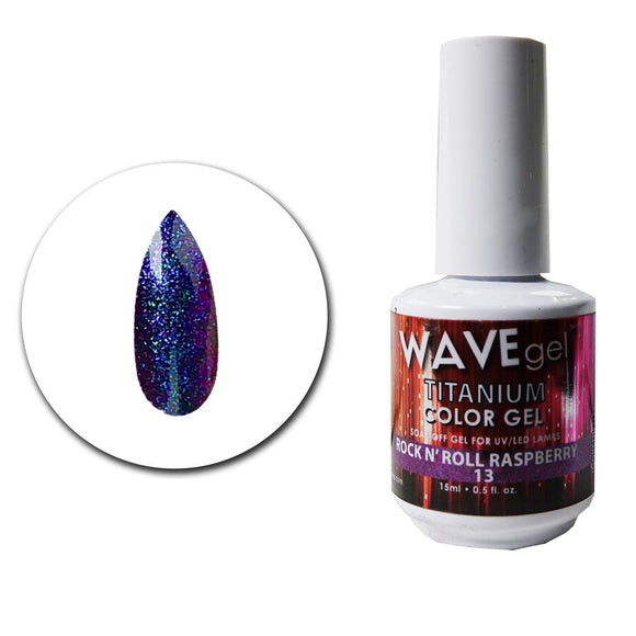 Wave Gel Titanium Collection- Rock N' Roll Raspberry- 15mL