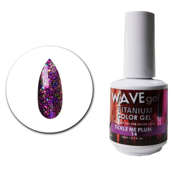Wave Gel Titanium Collection- Tickle Me Plum- 15mL