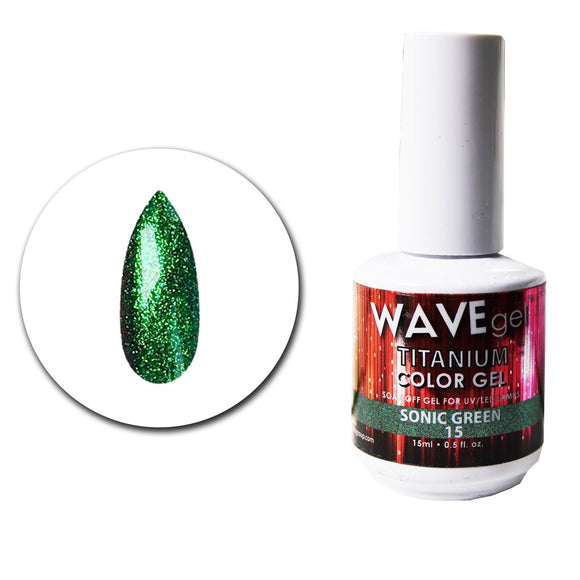 Wave Gel Titanium Collection-Sonic Green- 15mL