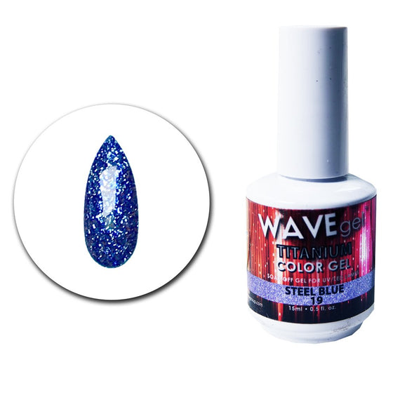 Wave Gel Titanium Collection- Steel Blue- 15mL