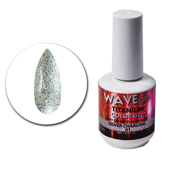 Wave Gel Titanium Collection- Silver Charcoal- 15mL