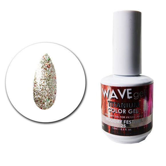 Wave Gel Titanium Collection- Holiday Festival- 15mL