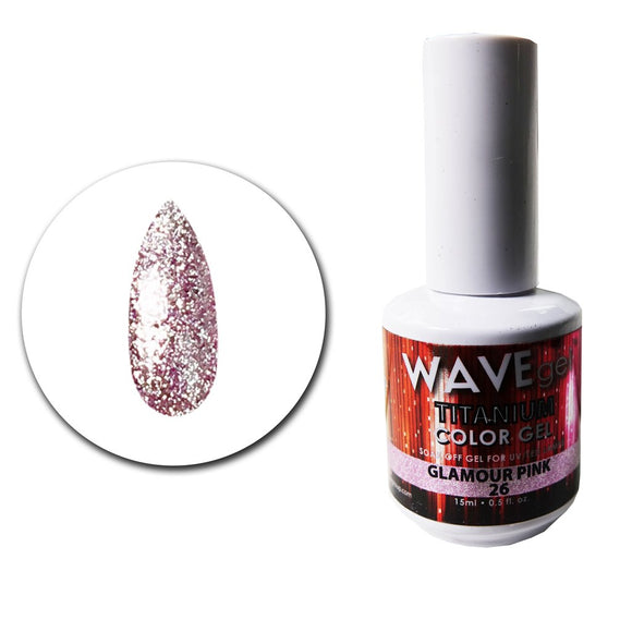 Wave Gel Titanium Collection- Glamour Pink- 15mL