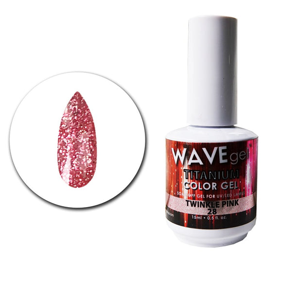 Wave Gel Titanium Collection- Twinkle Pink- 15mL