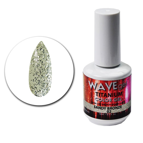 Wave Gel Titanium Collection- Sandy Bronze- 15mL