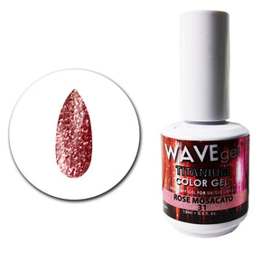 Wave Gel Titanium Collection- Rose Moscato- 15mL
